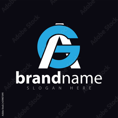 Photo AG initial letter logo icon vector