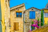 Fototapeta Uliczki - A narrow street in the old town of Saint Paul de Vence, France