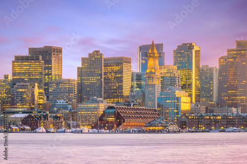 Poster Verenigde Staten The skyline of Boston in Massachusetts, USA