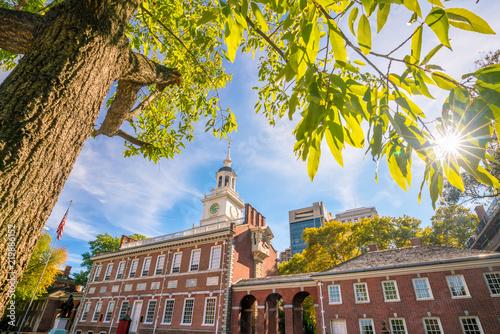 Poster Verenigde Staten Independence Hall in Philadelphia, Pennsylvania USA