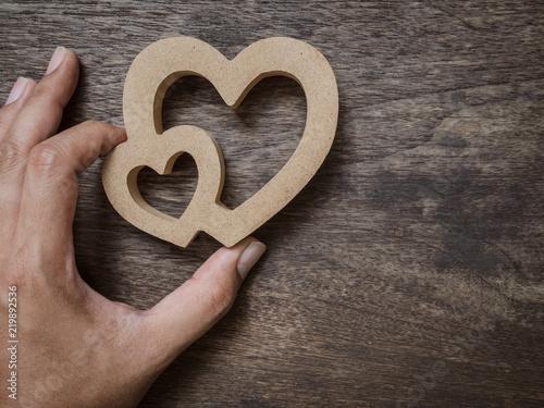Fotografía  Wooden hearts