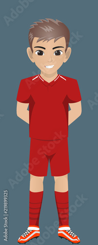 Fototapeta  Vector Character Football / Socher Team Kit