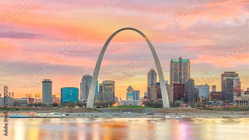 Poster Verenigde Staten St. Louis downtown city skyline