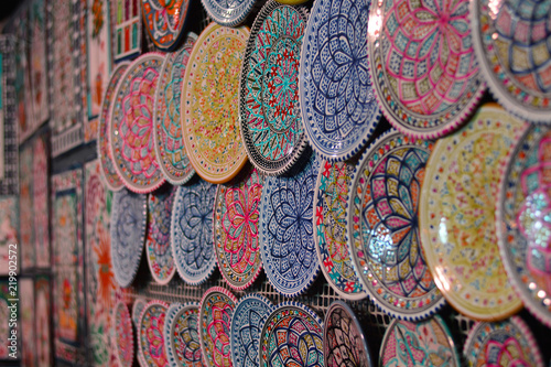 Papel de parede beautiful decorated colorful dishes