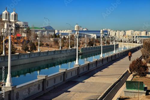 Photo ASHGABAT, TURKMENISTAN, January 25, 2017:  Modern architecture of Ashgabat