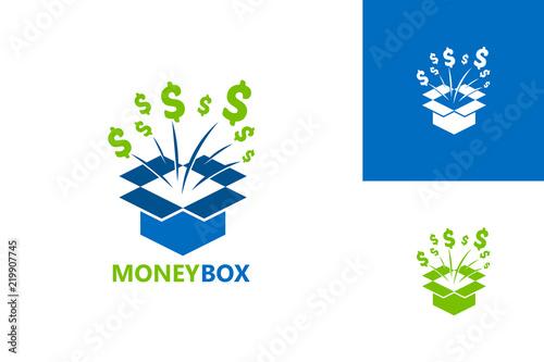 Money Box Logo Template Design Vector, Emblem, Design Concept, Creative Symbol, Fototapeta