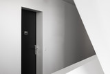 Door to modern European apartment background, New apartment symbol, Concept of new housing