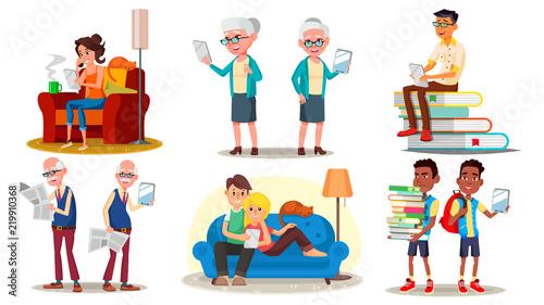 E Book Reader Concept Vector E Learning Alternative