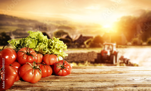 Staande foto Afrika Tomatoes and free space for your decoration.