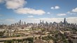 USA, Illinois, Chicago, city skyline, elevated view