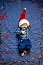 Cute Baby Santa Smiling