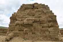 Hay Stack Wall - Straw Bales. Livestock Food