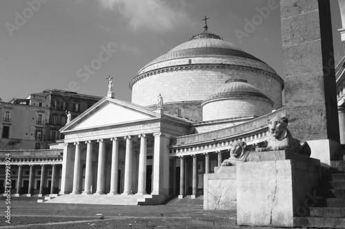 Foto op Canvas Napels San Francesco di Paola, Piazza del Plebiscito, Naples, Italy