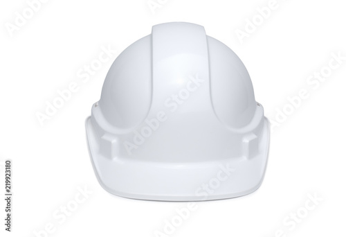 Fotografía  White Hardhat Front View