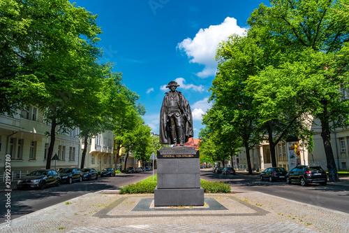 Fotografie, Obraz  Monument of American general Baron von Steuben in downtown of Magdeburg, Germany