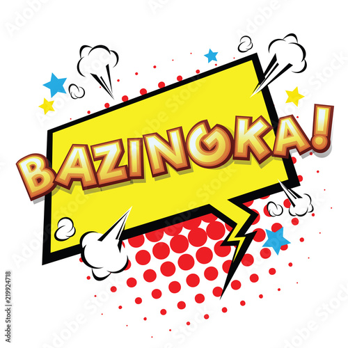 Photo Bazinga! Comic Speech Bubble