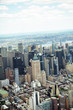 Helicopter point of view of Manhattan, NYC