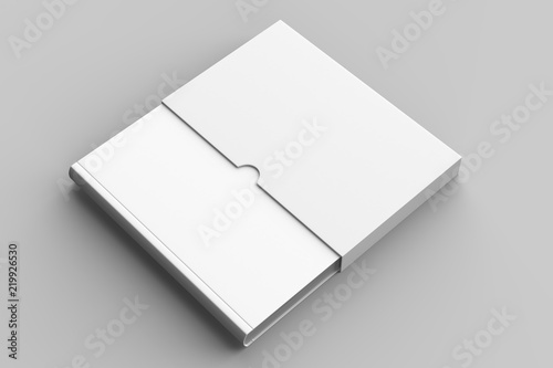 Fototapeta  Slipcase book mock up isolated on soft gray background