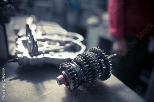 Obraz na plátne Motorcycle gear box piece