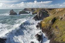 Stormy Coastline, Kynance Cove, Cornwall