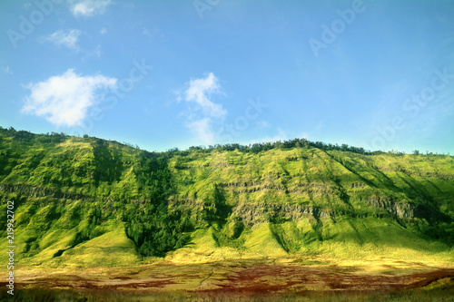 Photo  Green Hill of Bromo Mountain