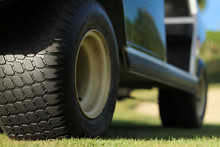 Wheels Of A Golf Cart.