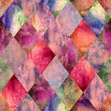 Argyle geometryczny wzór akwarela - 219934710