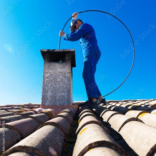 Carta da parati ramoneur de cheminée