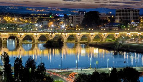 Puente histórico en Badajoz España