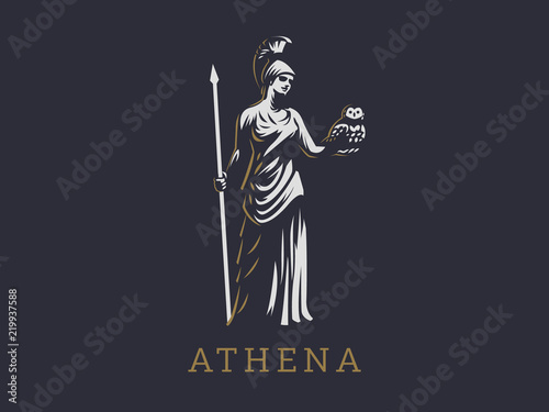 Photo The goddess Athena.