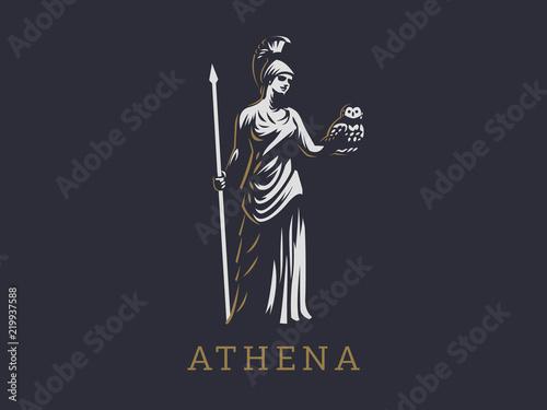 The goddess Athena. Wallpaper Mural