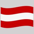 flag austria on gray background vector illustration flat