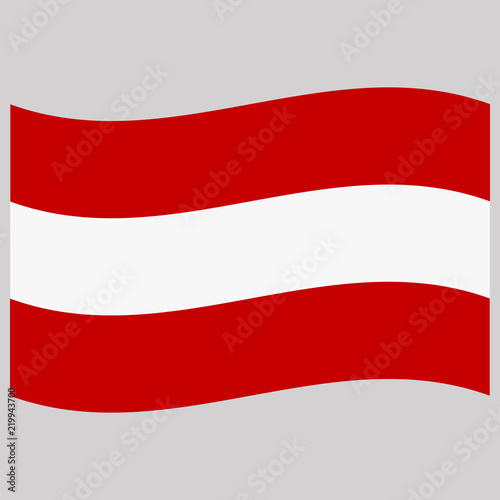 Photo Stands United States flag austria on gray background vector illustration flat