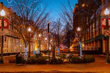 Downtown Kalamazoo Michigan During Christmas Time