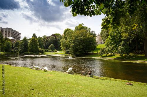 Foto op Canvas Brussel Leopold park in Brussels