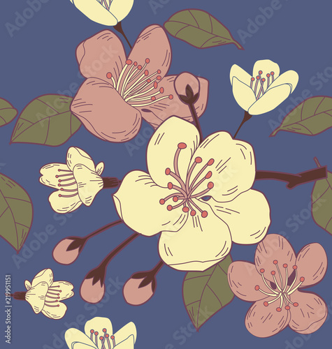 In de dag Kunstmatig floral seamless pattern4