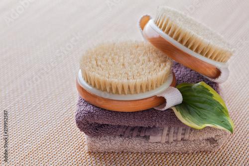 brush for dry body massage Slika na platnu