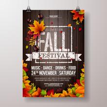 Autumn Party Flyer Illustratio...