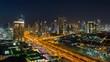 Time lapse - Dubai, UAE, modern city skyline overview