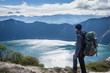 Randonneur sur la boucle de Quilotoa, Équateur