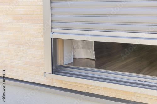 Obraz na plátně 新築住宅の窓のシャッター