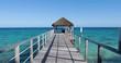boat pontoon in French Polynesia