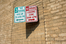 Loading Zone No Parking Sign
