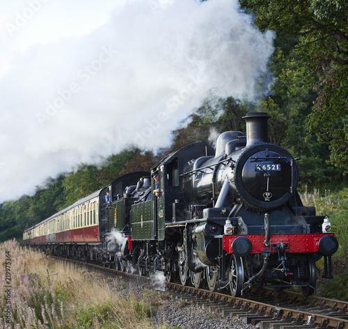 Carta da parati Steam locomotive train express double header