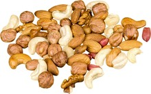 Various Nuts Mixed - Isolated