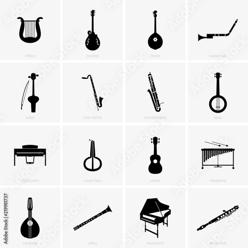 Fotografie, Obraz  Historical and traditional musical instruments