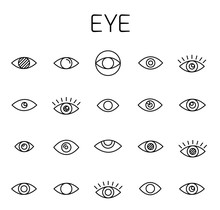Eye Related Vector Icon Set.