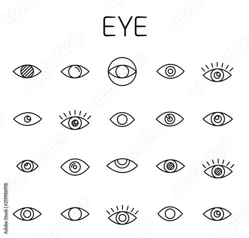 Eye related vector icon set. Fototapet
