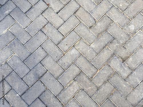 Textura de suelo de adoquines cuadrados
