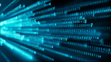 Data Technology Background. Big Data Visualization. Flow Of Data. Information Code. Background In A Matrix Style. 4k Rendering.